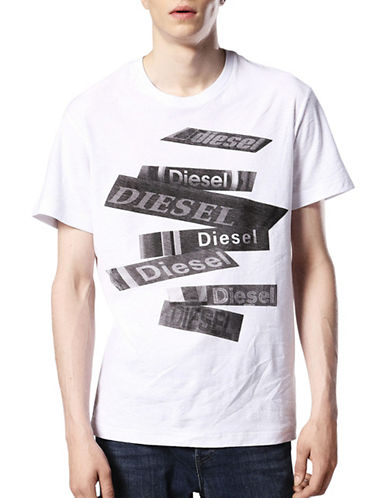 Diesel Slub Cotton T-Shirt-WHITE-Large 89544922_WHITE_Large