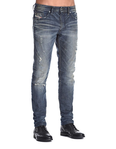 Diesel Thommer Distressed Jeans-BLUE-28X32