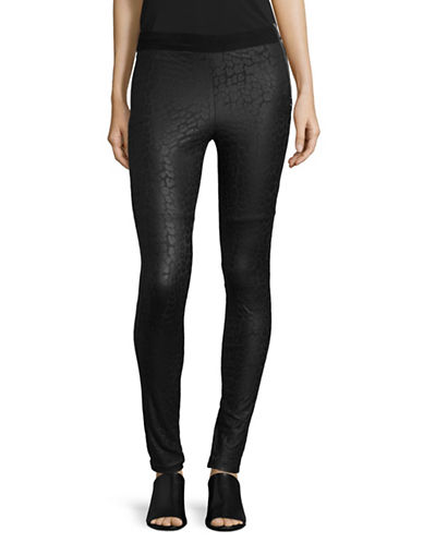 Diesel P-Elmy Faux Leather Leggings-BLACK-26