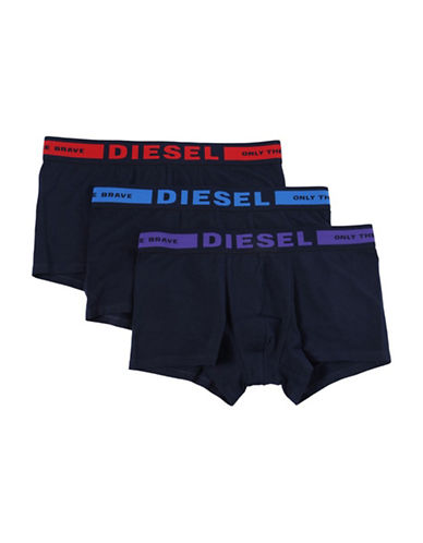 Diesel Three-Pack Seasonal Edition Boxer Trunks-RED-Large