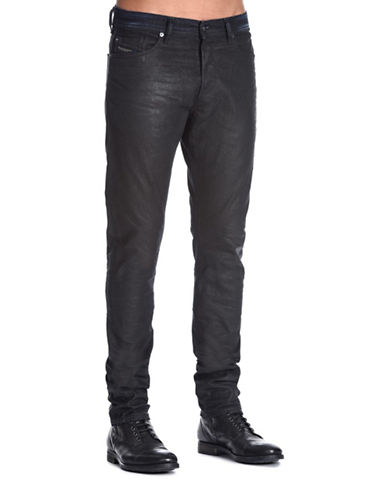 Diesel Tepphar Carrot-Fit Dark Jeans-BLACK-31X32