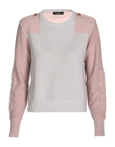 Diesel Wool-Cotton Pullover Sweater-PINK-X-Small