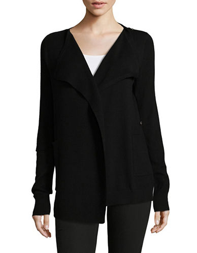 Diesel Sheer Back Wool-Blend Cardigan-BLACK-Large