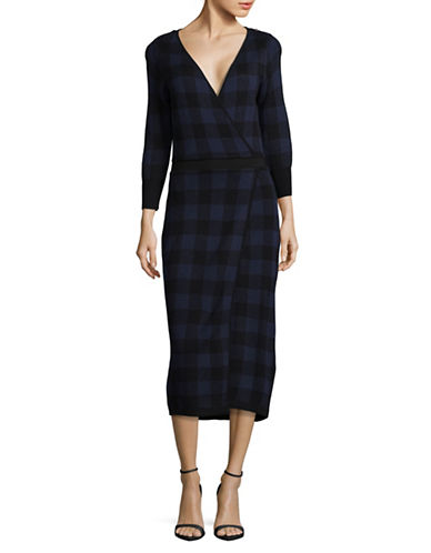 Diesel M-Juicy Plaid Dress-BLUE-Small