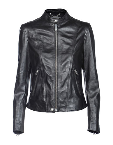 Diesel L-Spezy Leather Moto Jacket-BLACK-Large