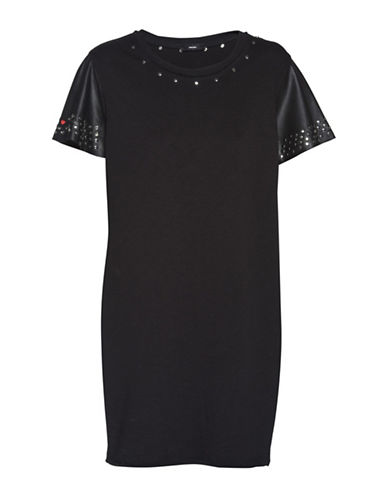 Diesel Studded Shift Dress-BLACK-Large