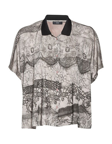 Diesel Steph Printed Shirt-ROSE-X-Small