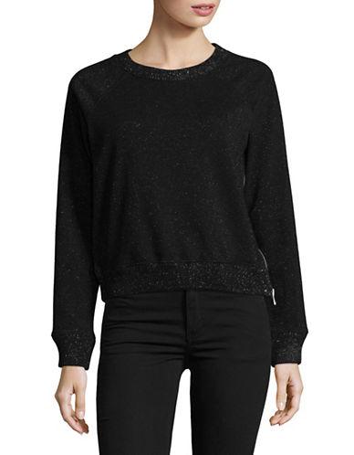 Diesel Talia Raglan Sleeve Sweatshirt-BLACK-Medium