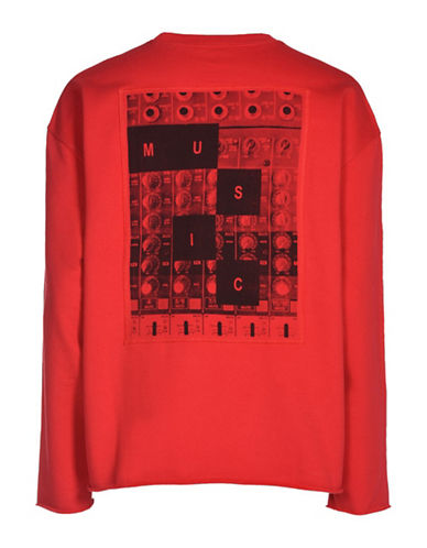 Diesel S-Osvaldo-Ls-Ra Sweatshirt-RED-Medium