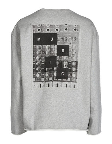 Diesel Music Inspired Cotton Sweatshirt-GREY-Small 89516627_GREY_Small