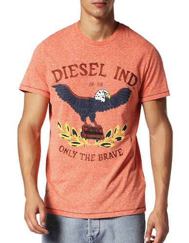Diesel T-Diego-Rp Regular Slim-Fit Tee-RED-Small