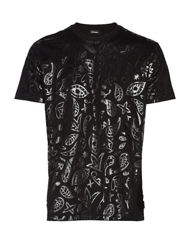 Diesel Glodd Print T-Shirt-BLACK-Small