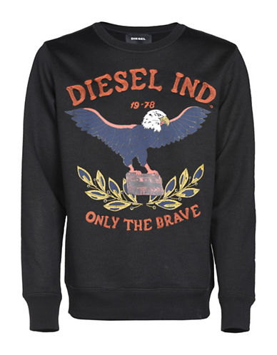Diesel S-Joe-Ra Sweatshirt-BLACK-XXLarge