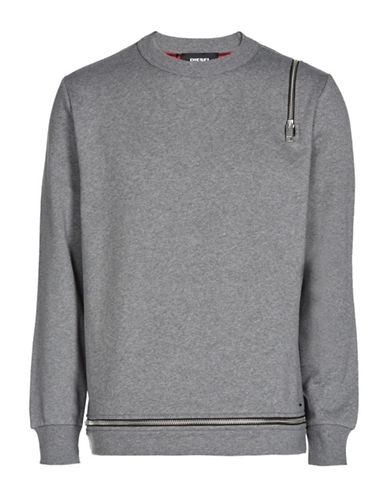 Diesel S-Icicle Sweatshirt-GREY-XLarge