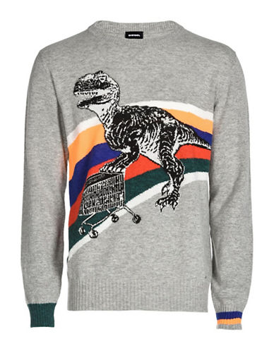 Diesel K-Dino Sweater-GREY-XLarge