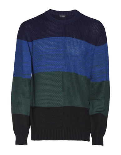 Diesel K-Evenflow Pullover-BLUE-Small