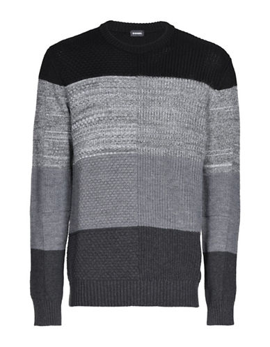 Diesel K-Evenflow Sweater-BLACK-Small