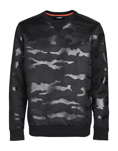 Diesel S-Oliver Regular-Fit Sweatshirt-BLACK-XLarge