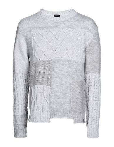 Diesel Flyy Woven Sweater-GREY-Medium