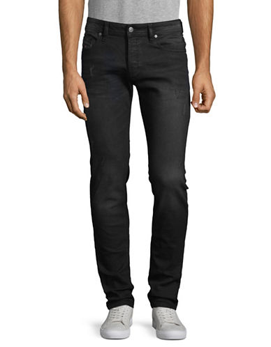 Diesel Distressed Skinny Jeans-BLACK-28X32