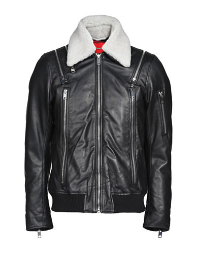 Diesel Feeder Jacket-BLACK-Small