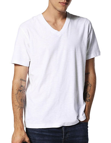 Diesel Regular-Fit Cotton Tee-WHITE-Large 89556083_WHITE_Large