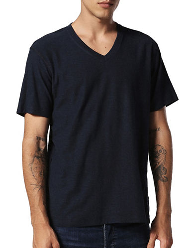 Diesel T-Rene Regular-Fit Cotton Tee-BLUE-XXLarge