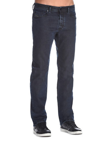 Diesel Waykee Straight-Fit Dark Jeans-DARK BLUE-28X32