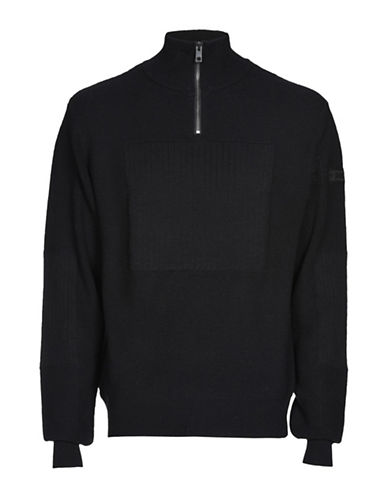 Diesel K-Scott Sweater-BLACK-XXLarge