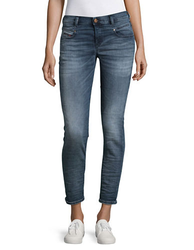 Diesel Belthy Slim Crop Sweat Jeans-DENIM-27