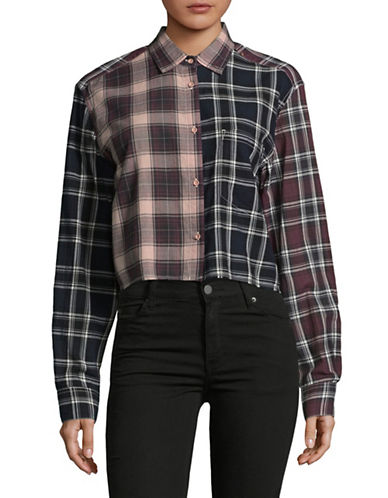 Diesel Boxy Plaid Shirt-PINK-X-Small