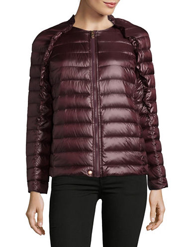 Diesel Raglan Sleeve Puffer Jacket-RED-Medium