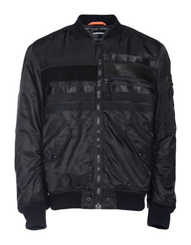 Diesel J-Wapusk Bomber Jacket-BLACK-Small