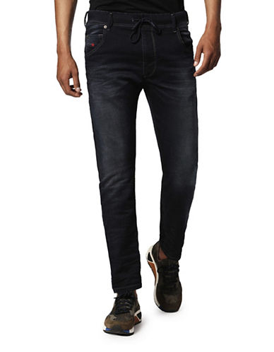 Diesel Krooley Low-Waist Sweat Jeans-DARK BLUE-30