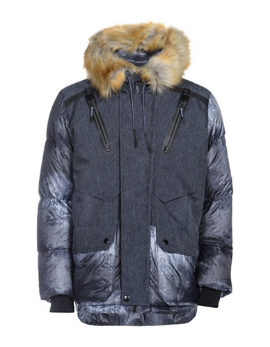 Diesel Quilted Faux Fur-Trimmed Winter Jacket 89517200