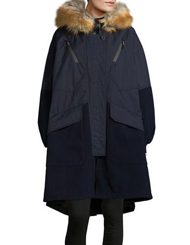 Diesel Faux Fur Dacron Jacket-BLUE-Large 89511121_BLUE_Large