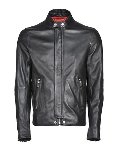 Diesel Leather Moto Jacket-BLACK-Small 89516990_BLACK_Small