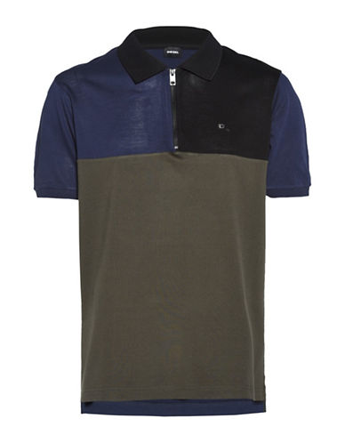 Diesel T-Erase Slim Fit Polo-GREEN-Small