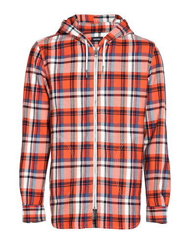 Diesel S-Ecoh Plaid Shirt Jacket-RED-XLarge