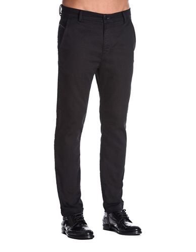 Diesel Slim-Chino Tapered-Fit Jeans-BLACK-36