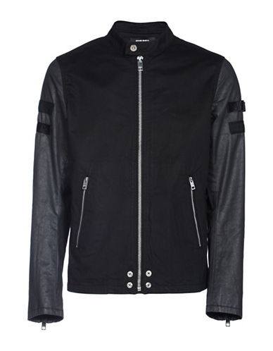 Diesel J-Mot Jacket-BLACK-Small