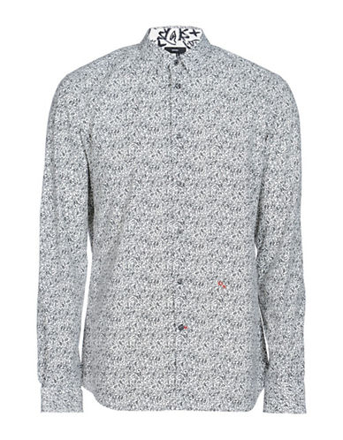 Diesel S-Crows Paisley Sport Shirt-NATURAL-Large