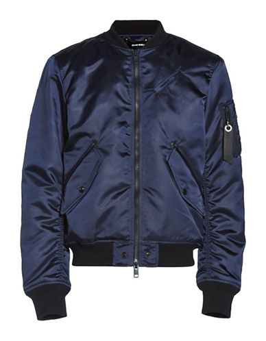 Diesel J-Quest Bomber Jacket-BLUE-Large