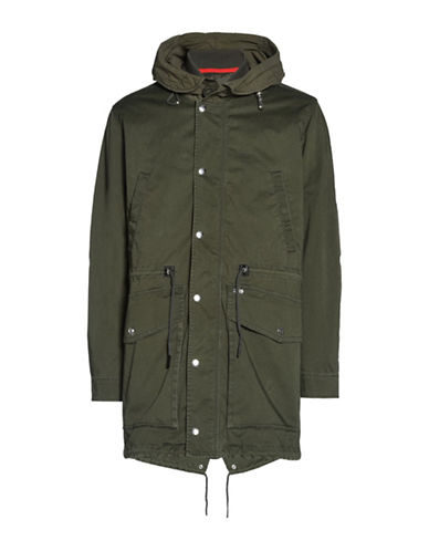 Diesel W-Division Parka-GREEN-Medium