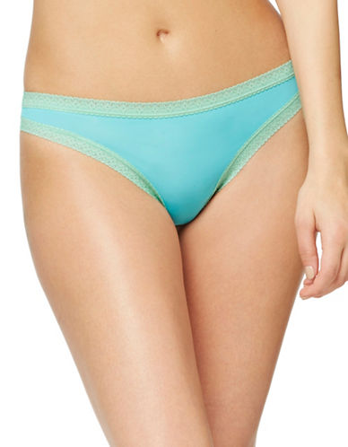 Blush Pretty Little Panties Thong-AZURE-Small