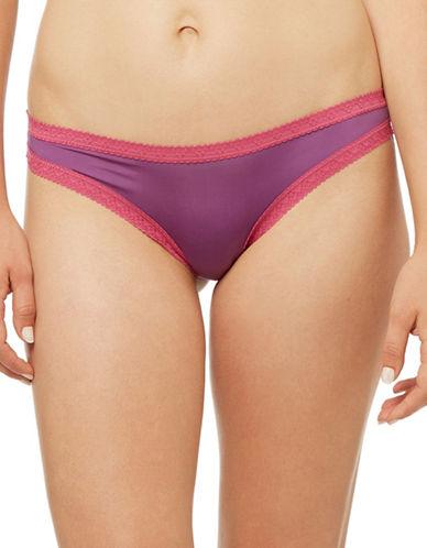 Blush Pretty Little Panties Thong-PURPLE-X-Large