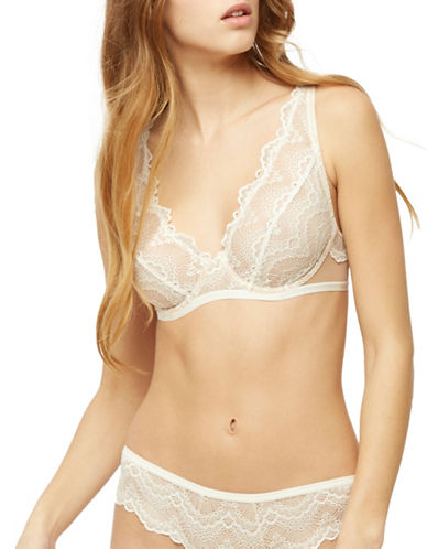 Blush Loveswept Underwire Plunge Bra-FRESH WHITE-36C