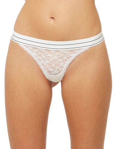 Blush Play Lace Thong-WHITE-Large