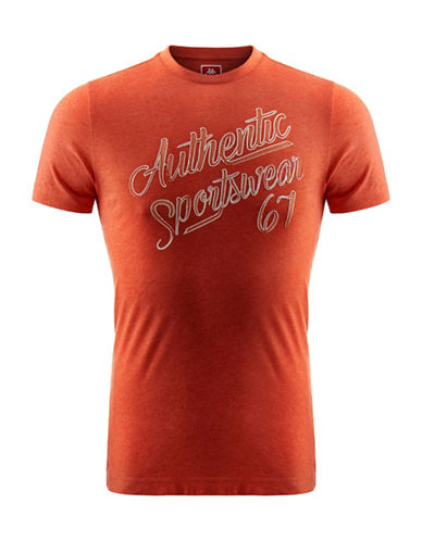 Kappa Authentic Slim-Fit Jersey T-Shirt-ORANGE-Medium 88322521_ORANGE_Medium