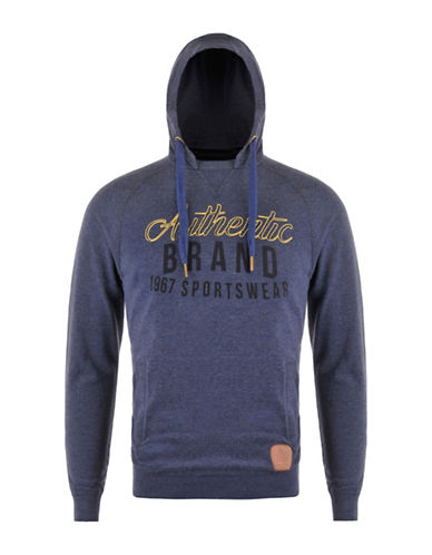 Kappa Slim-Fit Branded Hoodie-BLUE-Small 88322565_BLUE_Small